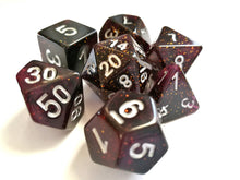 Midnight Purple Galaxy Dice Set