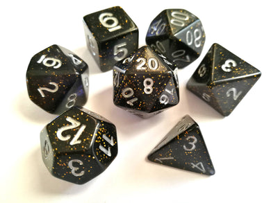 Midnight Blue Galaxy Dice Set