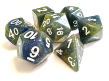 Blue - Yellow Galaxy Dice Set