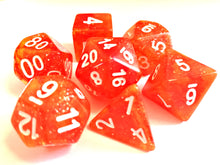Orange Galaxy Dice Set