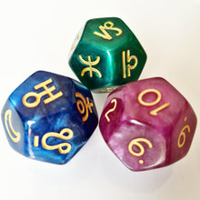 Pearl Astrology Dice Set