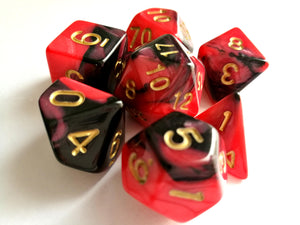 Red/Black Dual Colour Dice Set