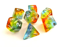Translucent Rainbow Layered Dice Set