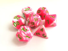 Hot Pink/White Dual Colour Dice Set - HD Dice