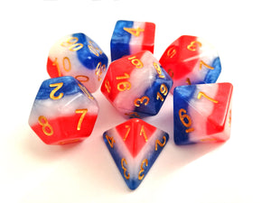 Tricoloure Layered Dice Set