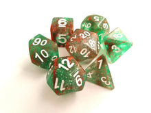 Green - Red Galaxy Dice Set