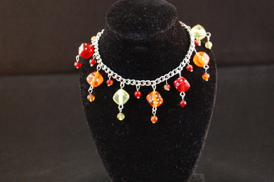 Red, Orange & Yellow Dice Charm Bracelet