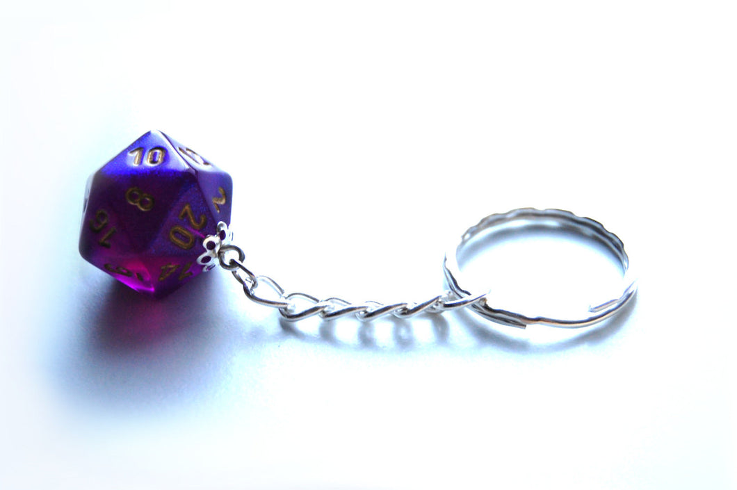 Royal Purple Borealis D20 Keyring
