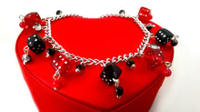 Red & Black Dice Charm Bracelet