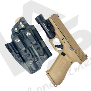 AIWB Glock 19X G19 Gen 5 Olight PL2 Valkyrie Saya Multicam Black IWB best Inside the Waistband light bear holster