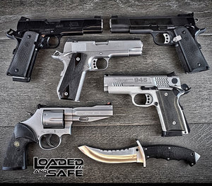 1911s - Les Baer SRP, Les Baer Premier 2, Ed Brown Kobra, Smith & Wesson 945 Compact, Smith & Wesson Revolver