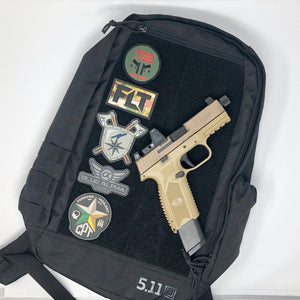 FN 509 Tactical Fine Line Tactical Nielsen Training Blue Alpha Gear LAS Concealment 5.11 Tactical Moral Pack 20L