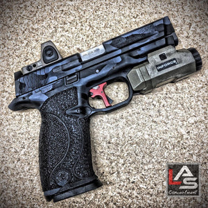 Smith & Wesson M&P9 Trijicon RMR06 FDE Inforce APL FDE Apex Tactical Flat Trigger
