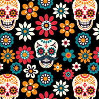 Sugar Skull Kydex Pattern Dia Los Muertes IWB best concealed carry holsters LAS Concealment