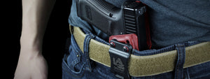Rampart Best Concealed Kydex Appendix Carry AIWB with mag pouch LAS Concealment Loaded and Safe