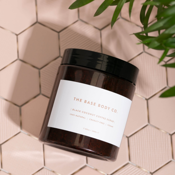 The Base Body Co. Black Coconut Coffee Scrub - Gifts For Nurses
