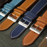 100% Hand Crafted French Leather Calf Straps