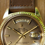 "SOLD- 1972 Rolex Day-Date 1803 ""Wide Boy"" With Spanish Day Wheel"