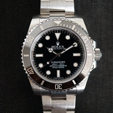 SOLD- 2014 Rolex Submariner 114060 Complete set