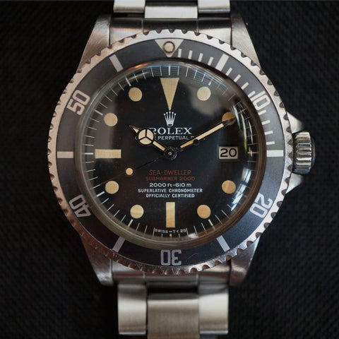 SOLD-1972 Rolex Sea Dweller 1665 Double Red- Complete Set