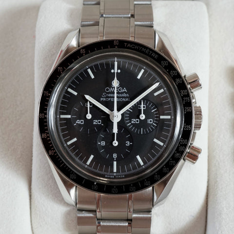 2004 Omega Speedmaster Professional 3455002 with box and Omega authentication paper