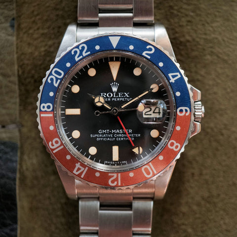 1978 Rolex GMT 1675 unpolished with box and paper