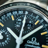 SOLD- 1995 Omega Speedmaster Triple Date 3520.50.00 with Fantastic Patina