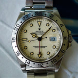 "SOLD- 1991 Rolex Explorer II 16570 Rail ""Cream Dial"""