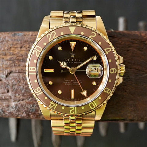 "SOLD- 1984 Rolex 16758 GMT ""Rootbeer"""