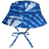Organic Batik Baby/Kids Summer Hats -Blue Boats
