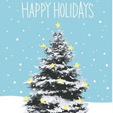 Snowy Tree Holiday Boxed Cards