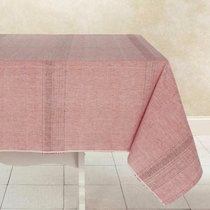 Beautiful Handwoven Solid Pale Red Tablecloth 90x60