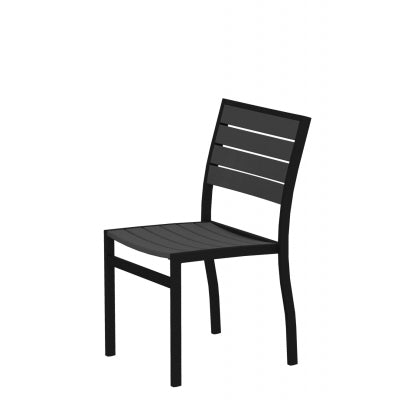 Euro Dining Chair BLACK TEXTURED Frame