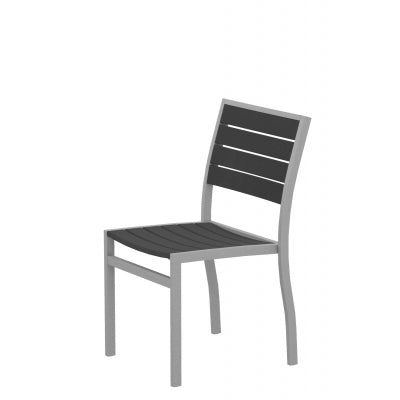 Euro Dining Chair SILVER TEXTURED Frame