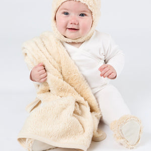 Faux Fur Organic Cotton Sherpa Blanket