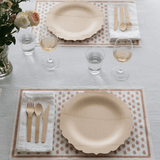 Scalloped Edge Bamboo Veneerware Plates