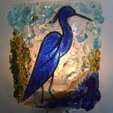 Recycled Glass Heron Night Light