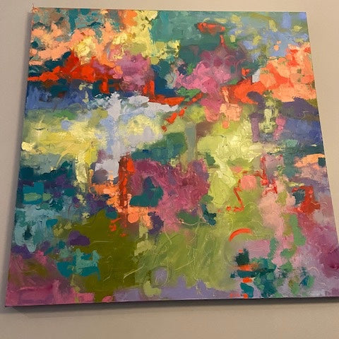 Silk Garden Abstract 48x48