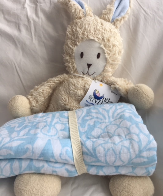 Organic Fuzzy Bunny and Swaddle