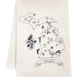Up North-Inspired Organic Kitchen Towels (more designs available)