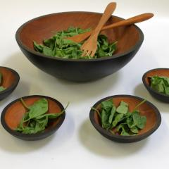 Ebonized Cherry Salad Set