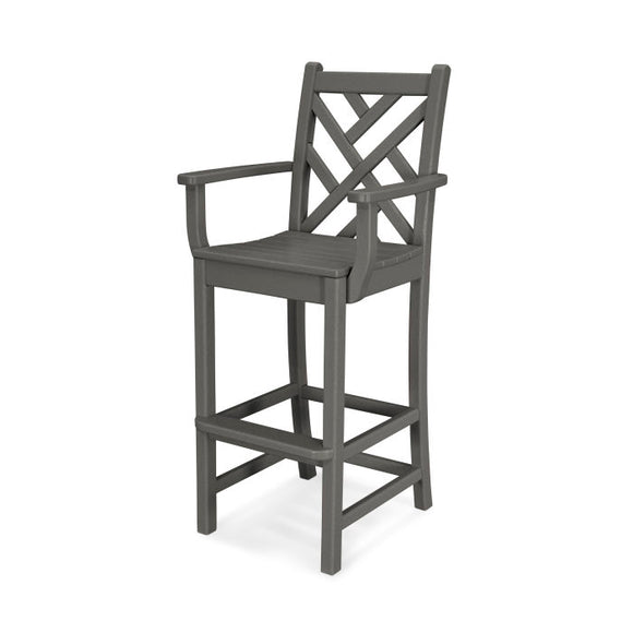 Chippendale Bar Chair Armless or w/Arms (CDD102/202)