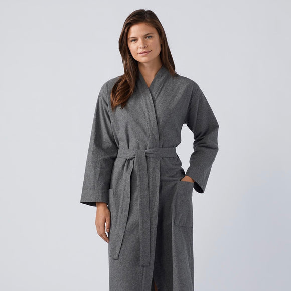 SALE! Unisex Cloud Brushed Organic Flannel Robe