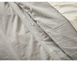 Ventura Striped Organic Cotton Duvet Cover/Shams