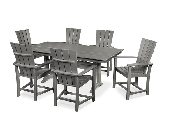 Quattro 7-Piece Farmhouse Dining Set (PWS429-1)