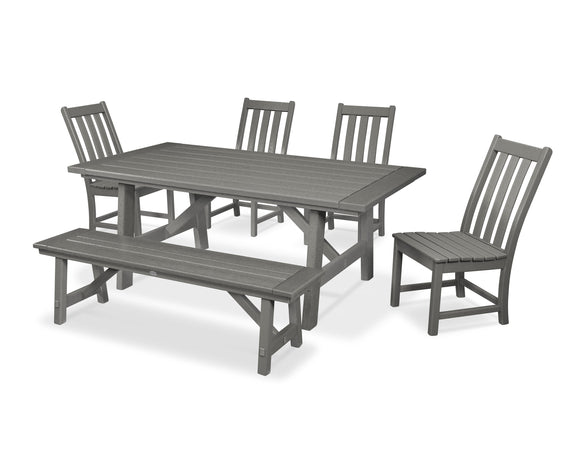Vineyard 6-Piece Rustic Farmhouse Dining Set (PWS449-1)