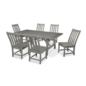 Vineyard 7-Piece Rustic Farmhouse Side Chair Dining Set (PWS448-1)