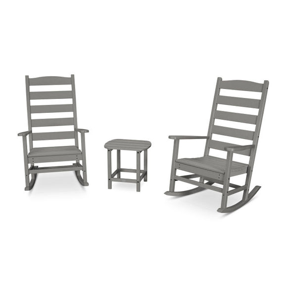 POLYWOOD 3-Piece Shaker Porch Rocker Set (PWS474-1)