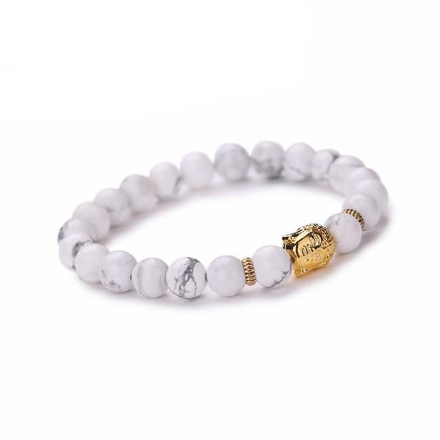 FREE White Buddha Beaded Bracelet