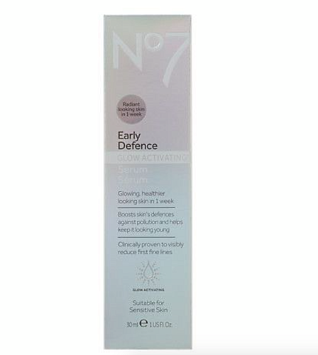 No7 Early Defense Glow activating serum